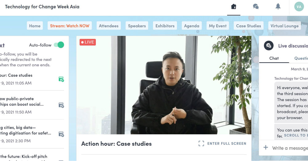 Victor Ai gives a speech on Terminus AI CITY at the case studies session. /Terminus Group